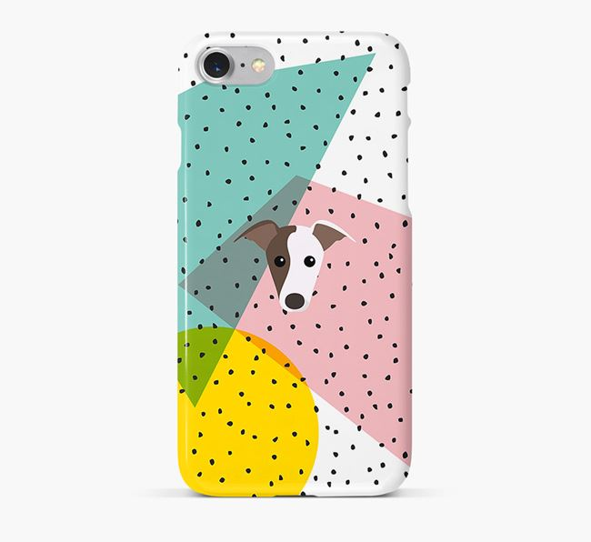 'Geometric' Phone Case with Greyhound Icon