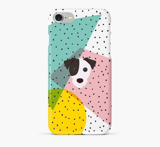 'Geometric' Phone Case with Jack Russell Terrier Icon