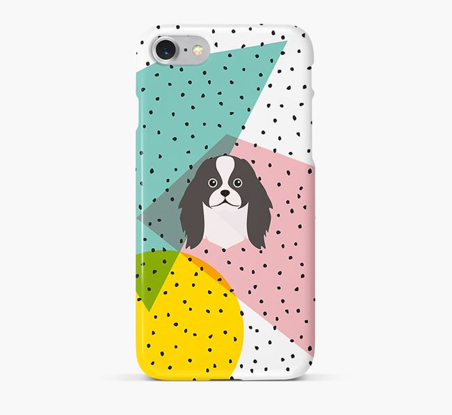 'Geometric' Phone Case with Japanese Chin Icon