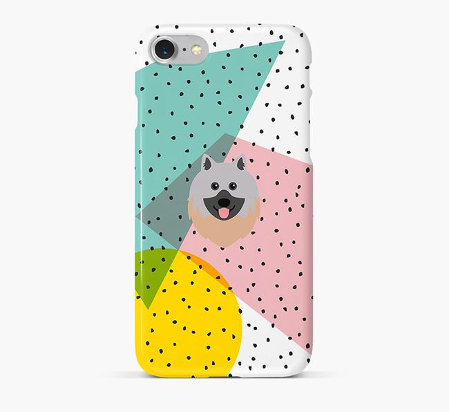 'Geometric' Phone Case with Keeshond Icon