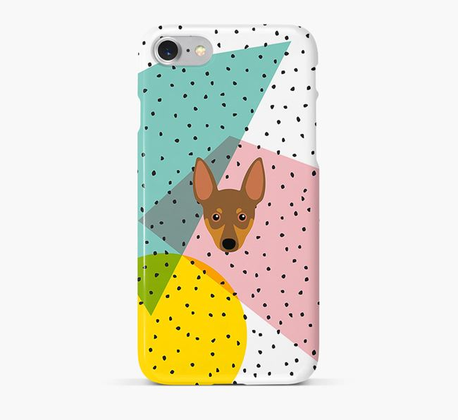 'Geometric' Phone Case with Miniature Pinscher Icon