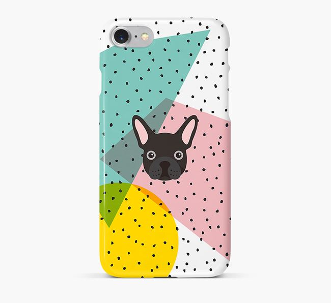 'Geometric' Phone Case with Mixed Breed Icon