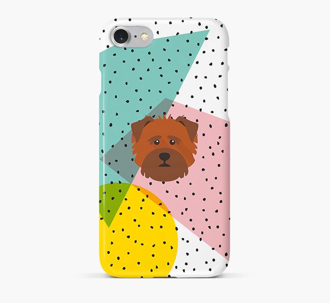 'Geometric' Phone Case with Norfolk Terrier Icon