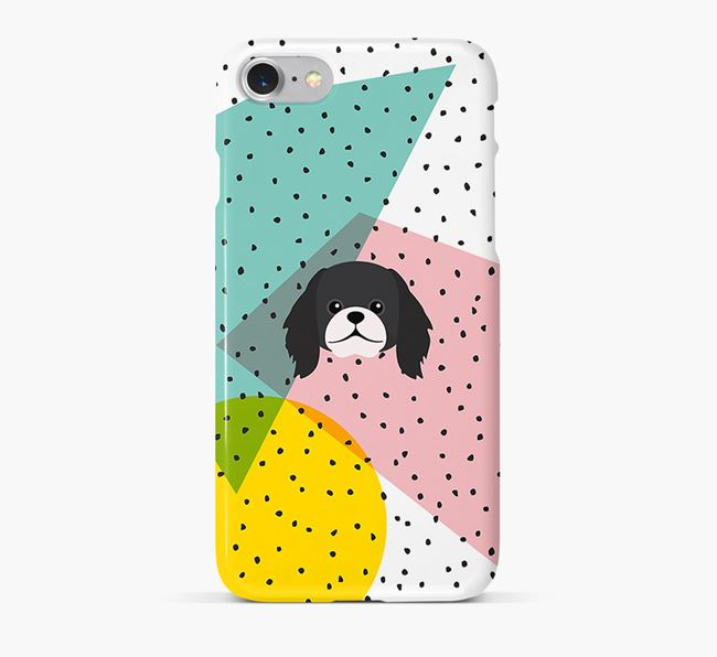 'Geometric' Phone Case with Pekingese Icon