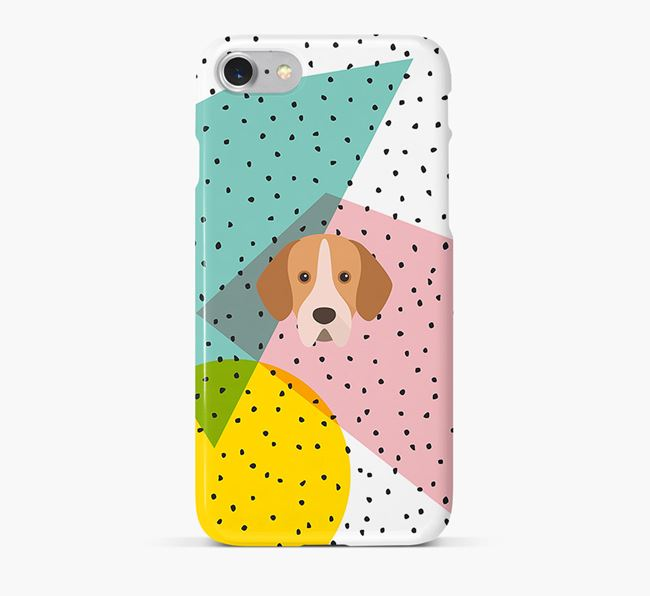 'Geometric' Phone Case with Portuguese Pointer Icon