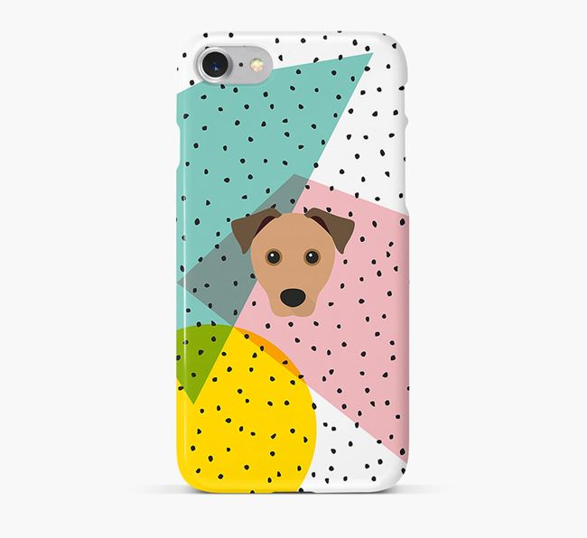 'Geometric' Phone Case with Rescue Dog Icon