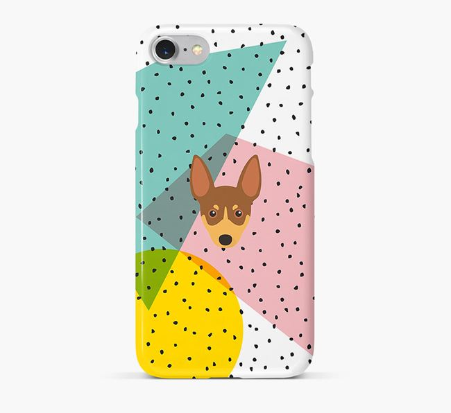 'Geometric' Phone Case with Toy Fox Terrier Icon