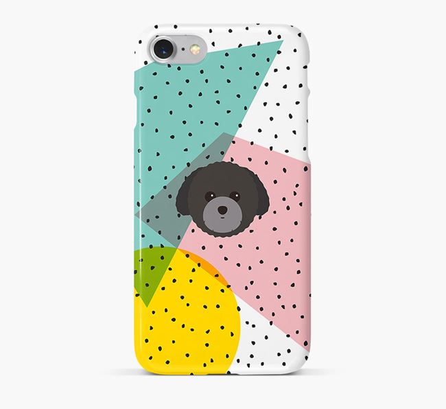 'Geometric' Phone Case with Toy Poodle Icon