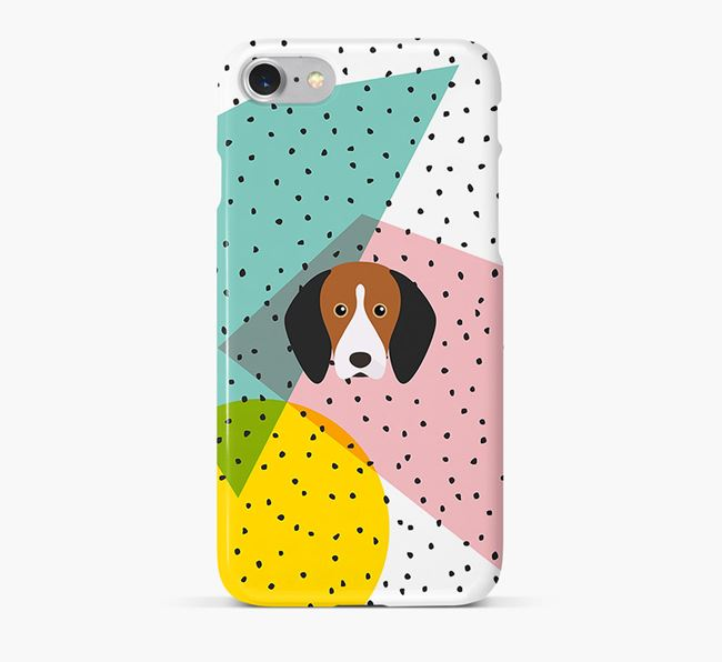 'Geometric' Phone Case with Treeing Walker Coonhound Icon
