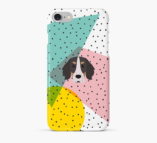 'Geometric' Phone Case with Working Cocker Spaniel Icon