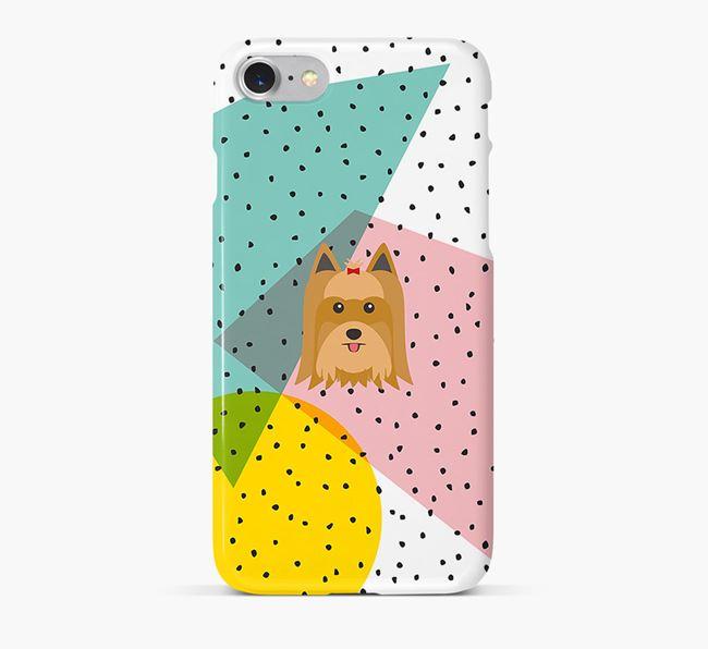 'Geometric' Phone Case with Yorkshire Terrier Icon