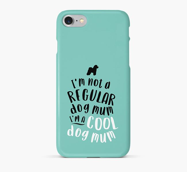 'Cool Dog Mum' Phone Case with Bichon Frise Silhouette