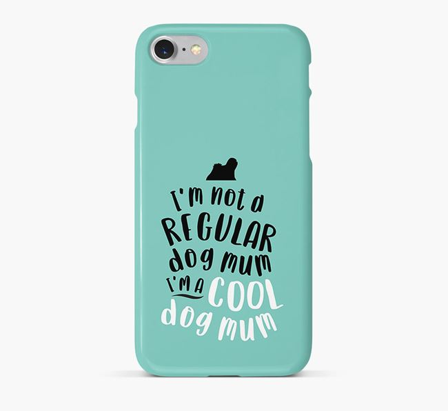 'Cool Dog Mum' Phone Case with Lhasa Apso Silhouette