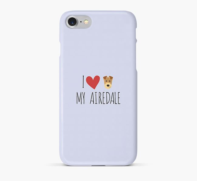 'I Love my Airedale' Phone Case with Airedale Terrier Icon