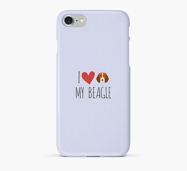 'I Love my Beagle' Phone Case with Beagle Icon