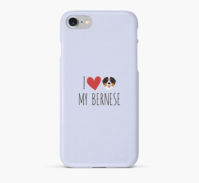 'I Love my Bernese' Phone Case with Bernese Mountain Dog Icon