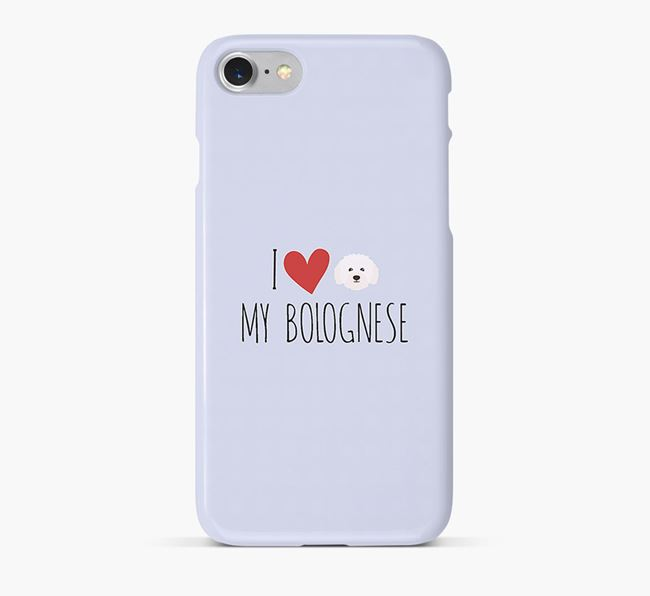 'I Love my Bolognese' Phone Case with Bolognese Icon