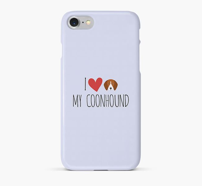'I Love my Coonhound' Phone Case with English Coonhound Icon