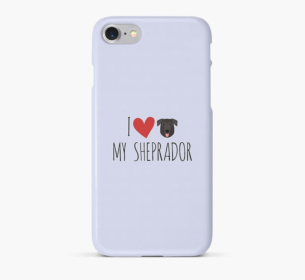 'I Love my Sheprador' Phone Case with German Sheprador Icon