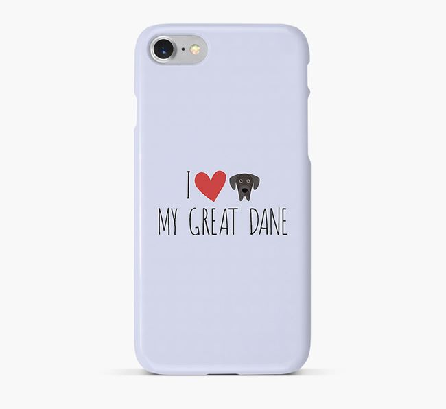 'I Love my Great Dane' Phone Case with Great Dane Icon