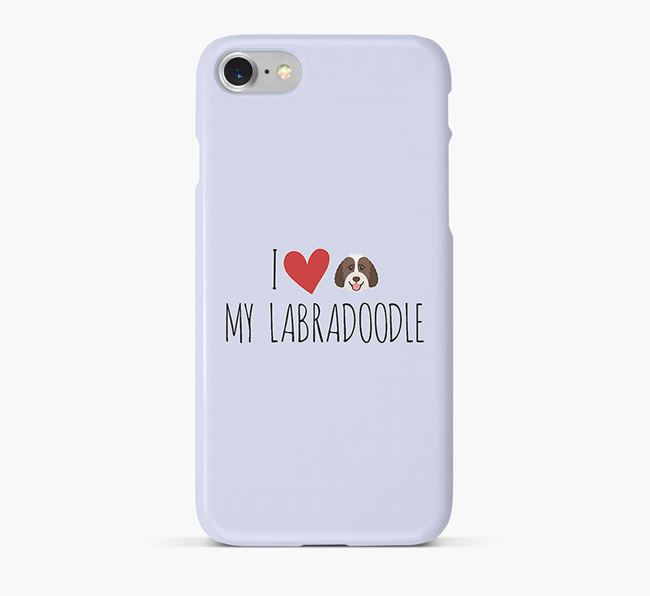 'I Love my Labradoodle' Phone Case with Labradoodle Icon