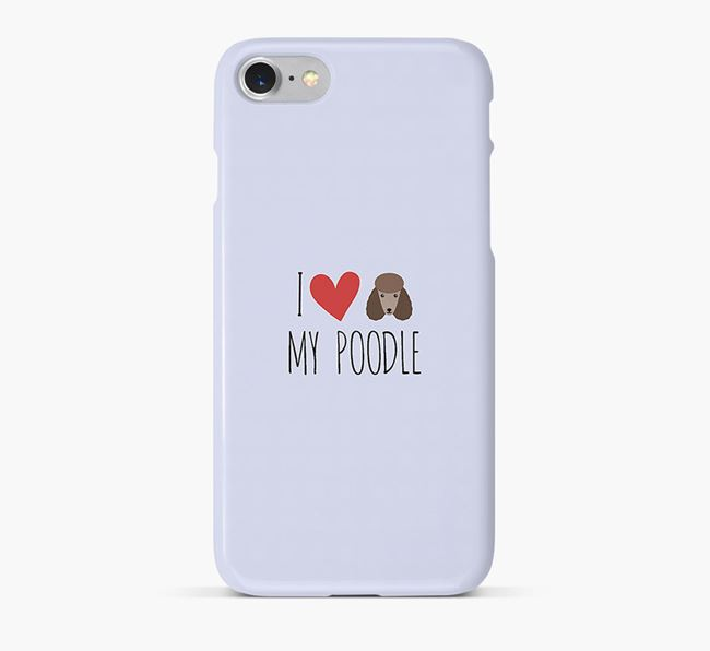 'I Love my Poodle' Phone Case with Poodle Icon