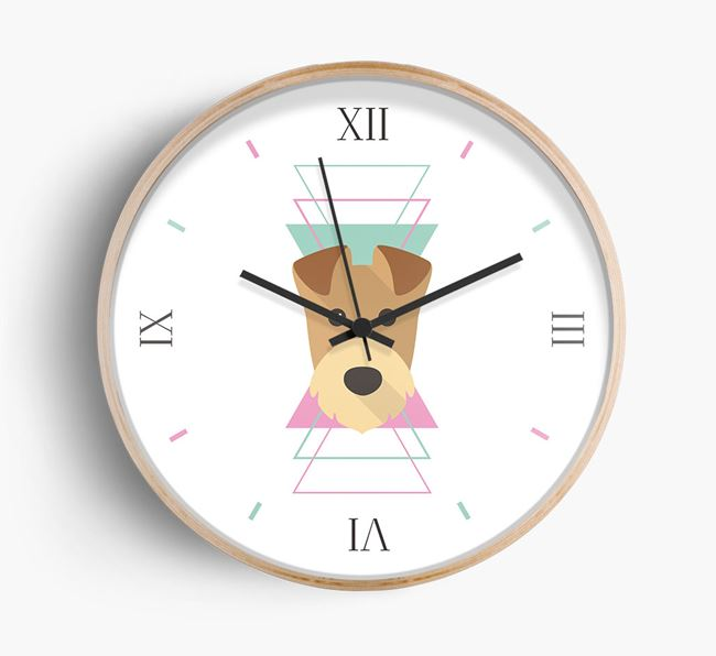 Geometric {dogsName} Icon Wall Clock