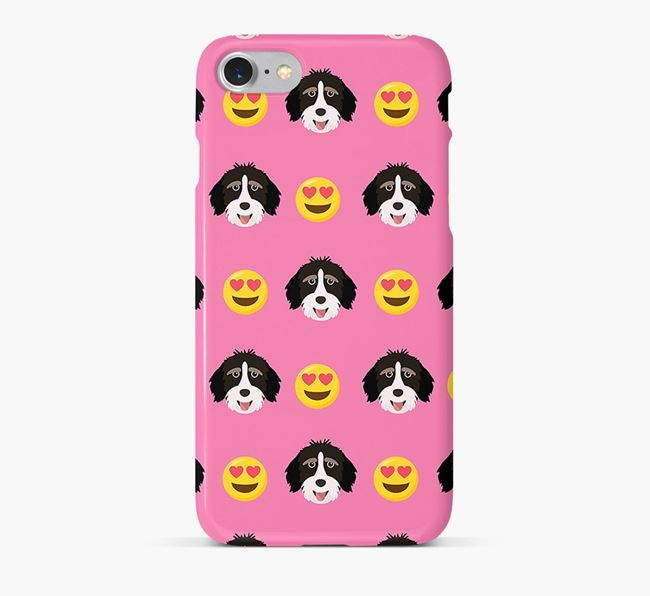 'Heart Eyes' Pattern Phone Case with Aussiedoodle Icon