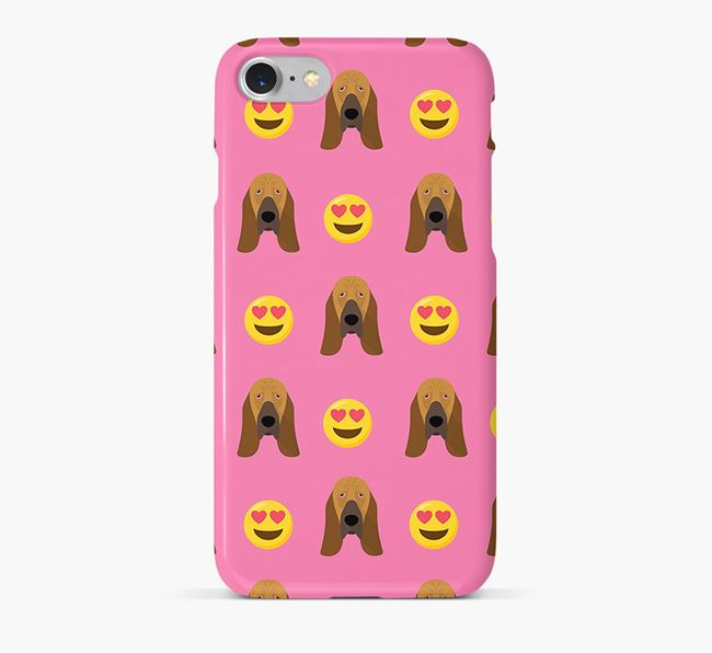 'Heart Eyes' Pattern Phone Case with Bloodhound Icon