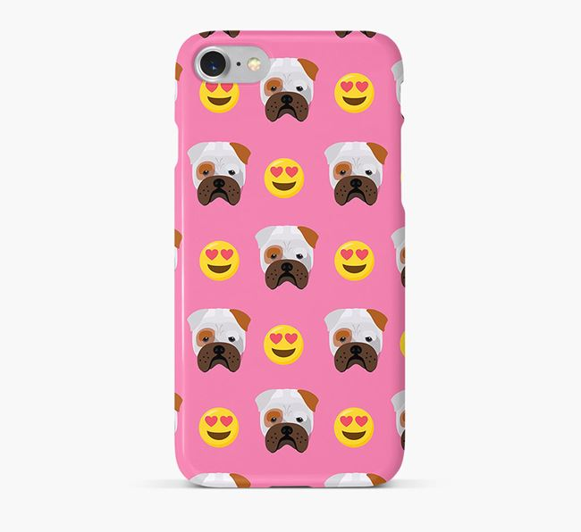 'Heart Eyes' Pattern Phone Case with Bull Pei Icon