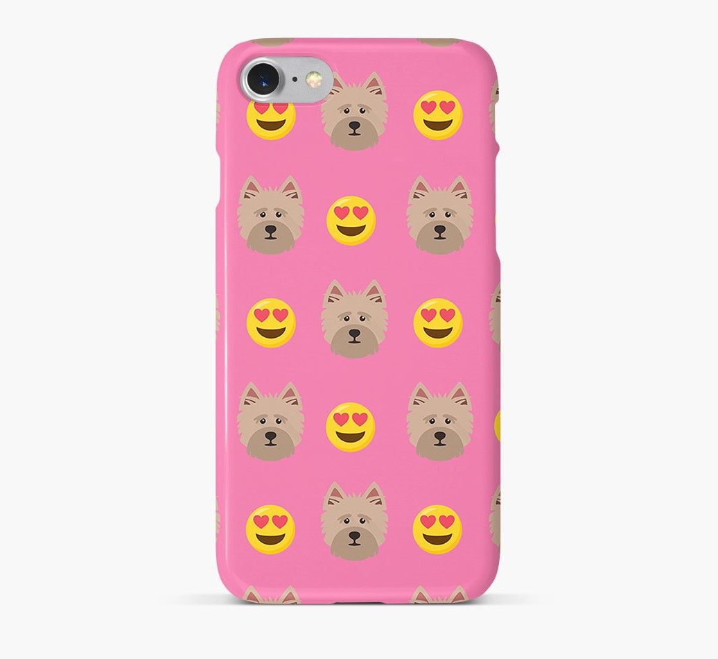 'Heart Eyes' Pattern Phone Case with Cairn Terrier Icon