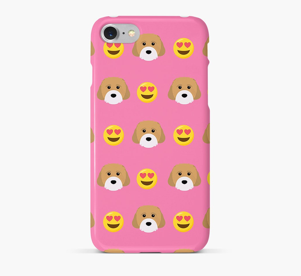 'Heart Eyes' Pattern Phone Case with Cavachon Icon