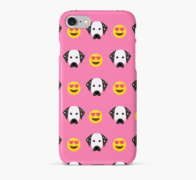 'Heart Eyes' Pattern Phone Case with Dalmatian Icon