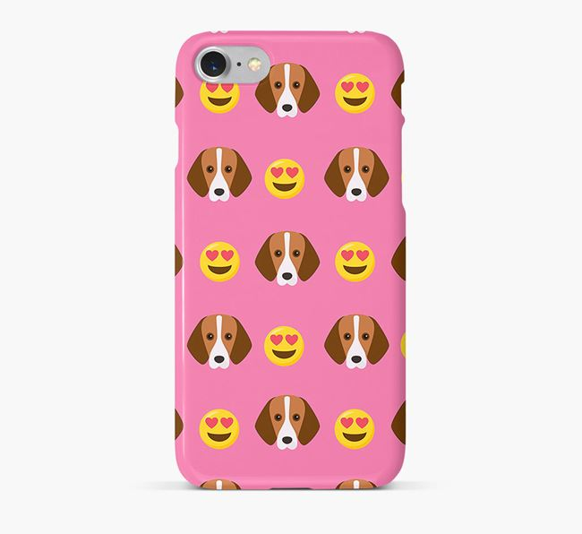 'Heart Eyes' Pattern Phone Case with Foxhound Icon