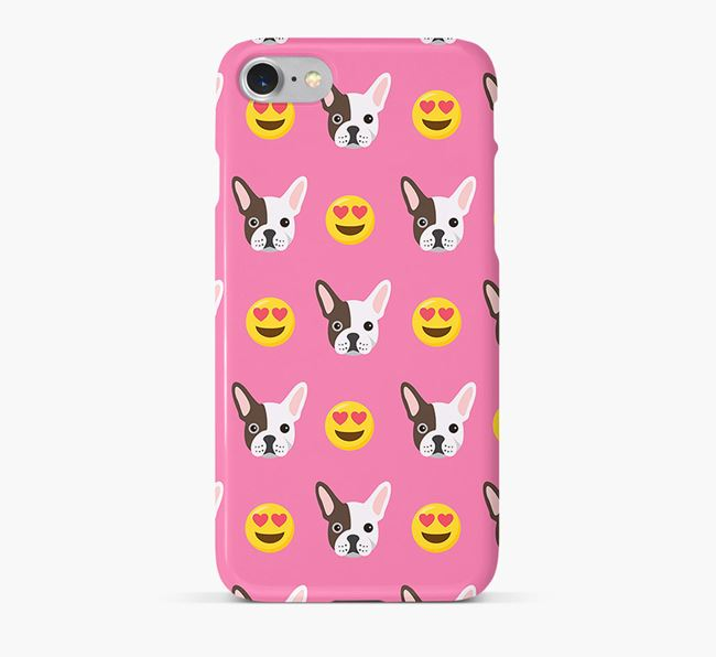 'Heart Eyes' Pattern Phone Case with French Bulldog Icon
