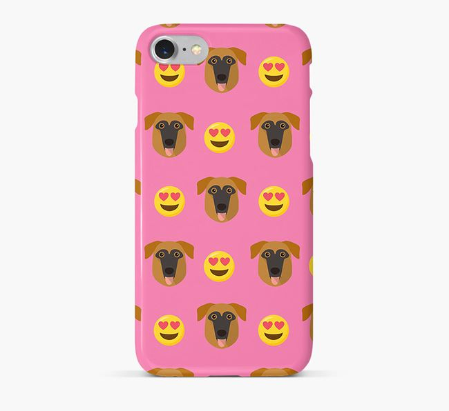 'Heart Eyes' Pattern Phone Case with German Sheprador Icon