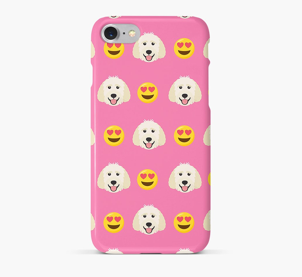 'Heart Eyes' Pattern Phone Case with Goldendoodle Icon