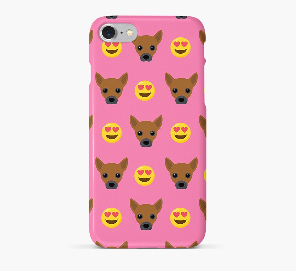 'Heart Eyes' Pattern Phone Case with Jackahuahua Icon