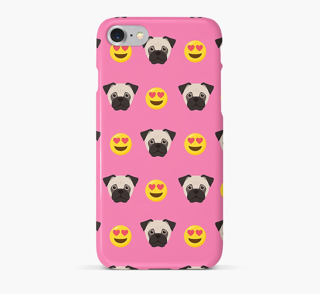 'Heart Eyes' Pattern Phone Case with Jug Icon