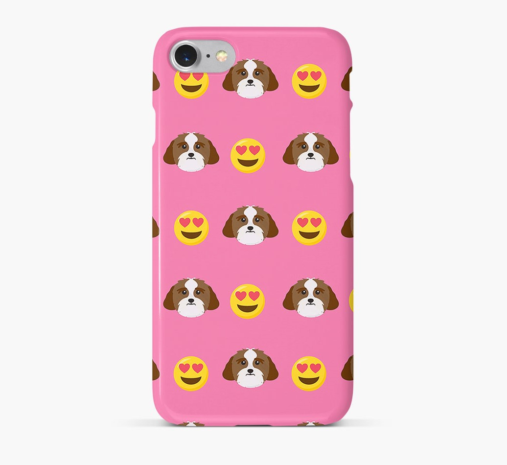 'Heart Eyes' Pattern Phone Case with Lhasa Apso Icon