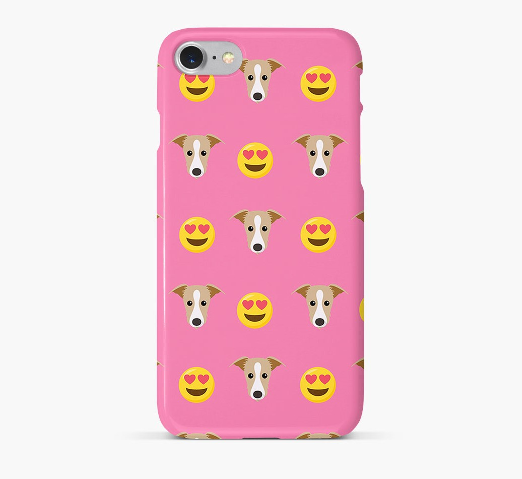 'Heart Eyes' Pattern Phone Case with Lurcher Icon