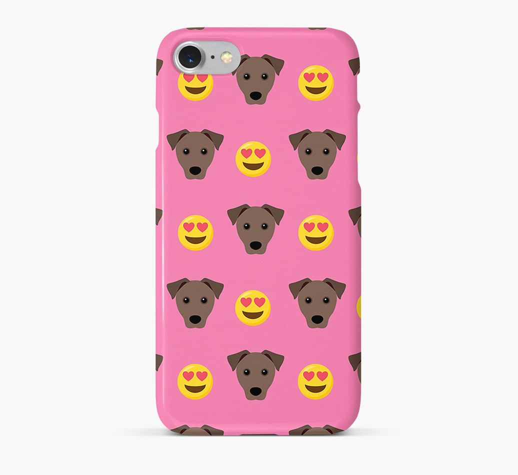 'Heart Eyes' Pattern Phone Case with Mixed Breed Icon