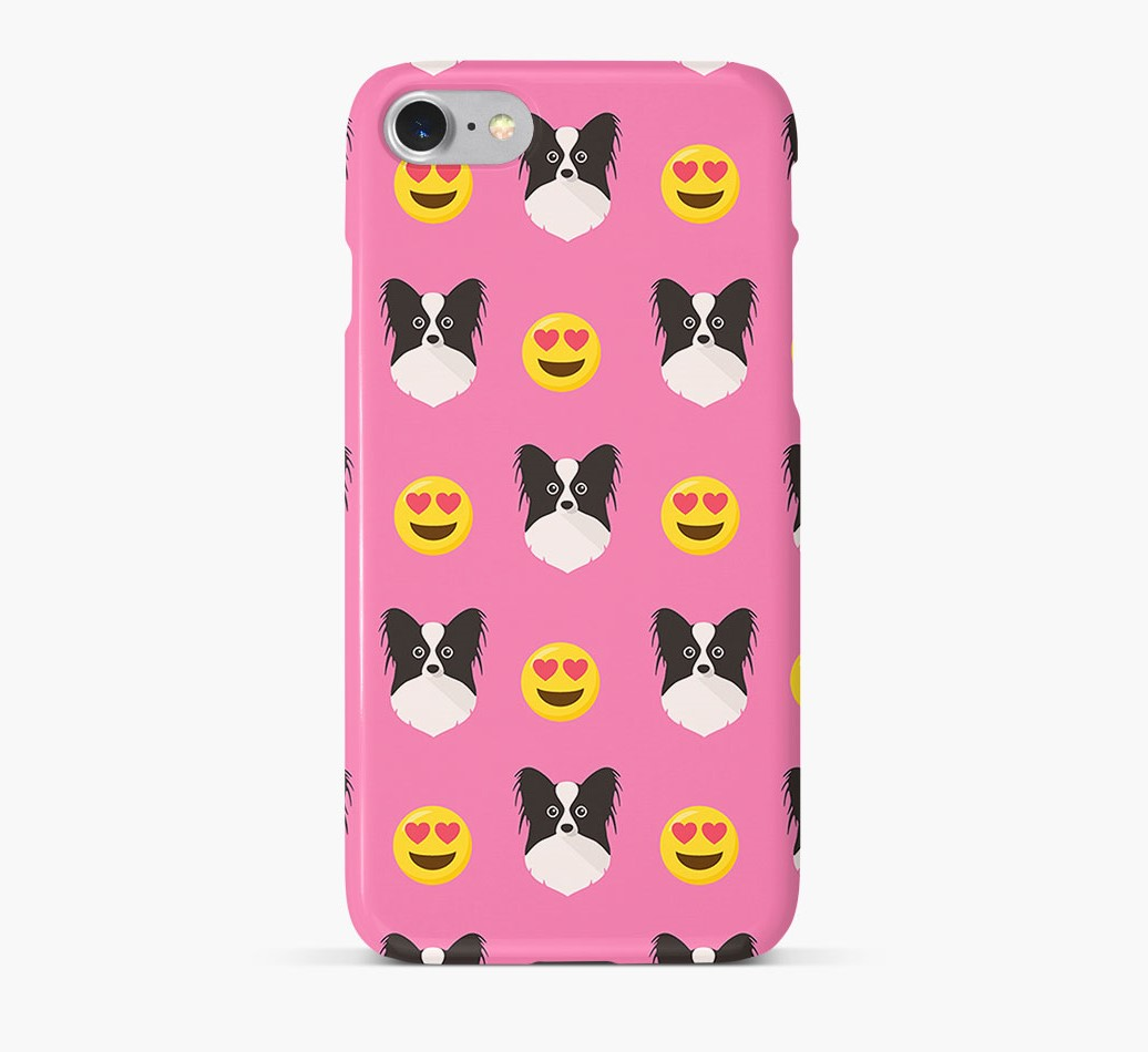 'Heart Eyes' Pattern Phone Case with Papillon Icon