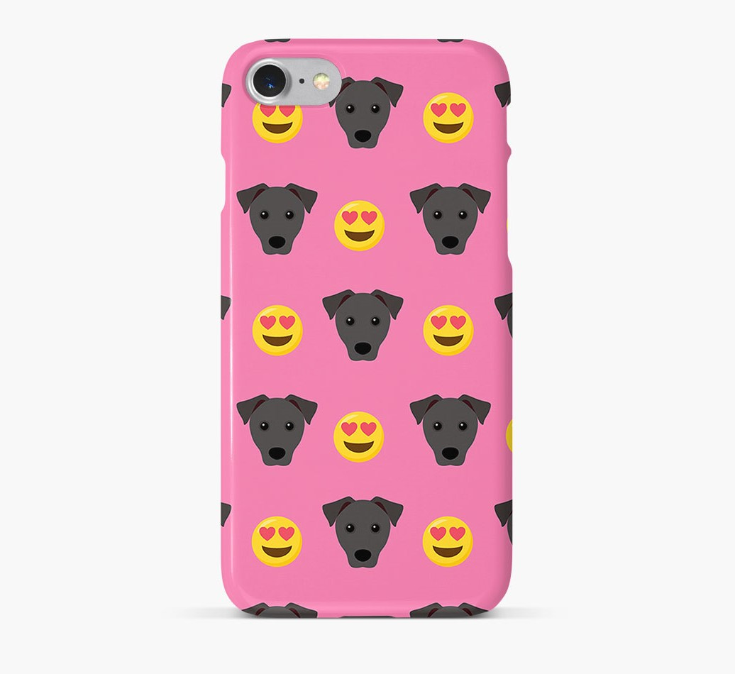 'Heart Eyes' Pattern Phone Case with Patterdale Terrier Icon