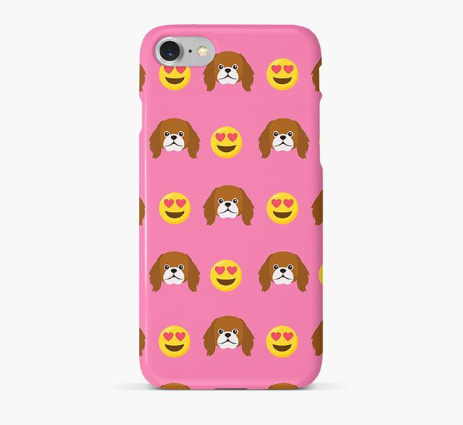 'Heart Eyes' Pattern Phone Case with Pekingese Icon