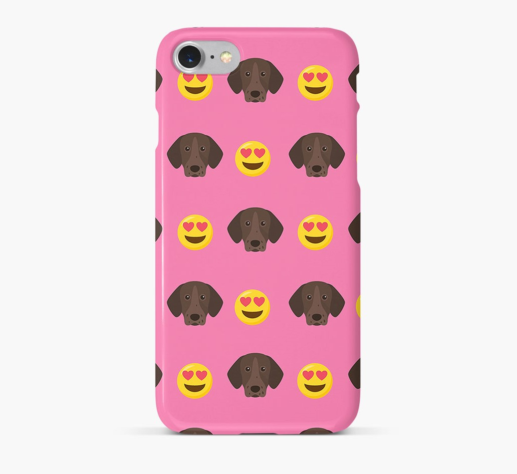'Heart Eyes' Pattern Phone Case with Pointer Icon