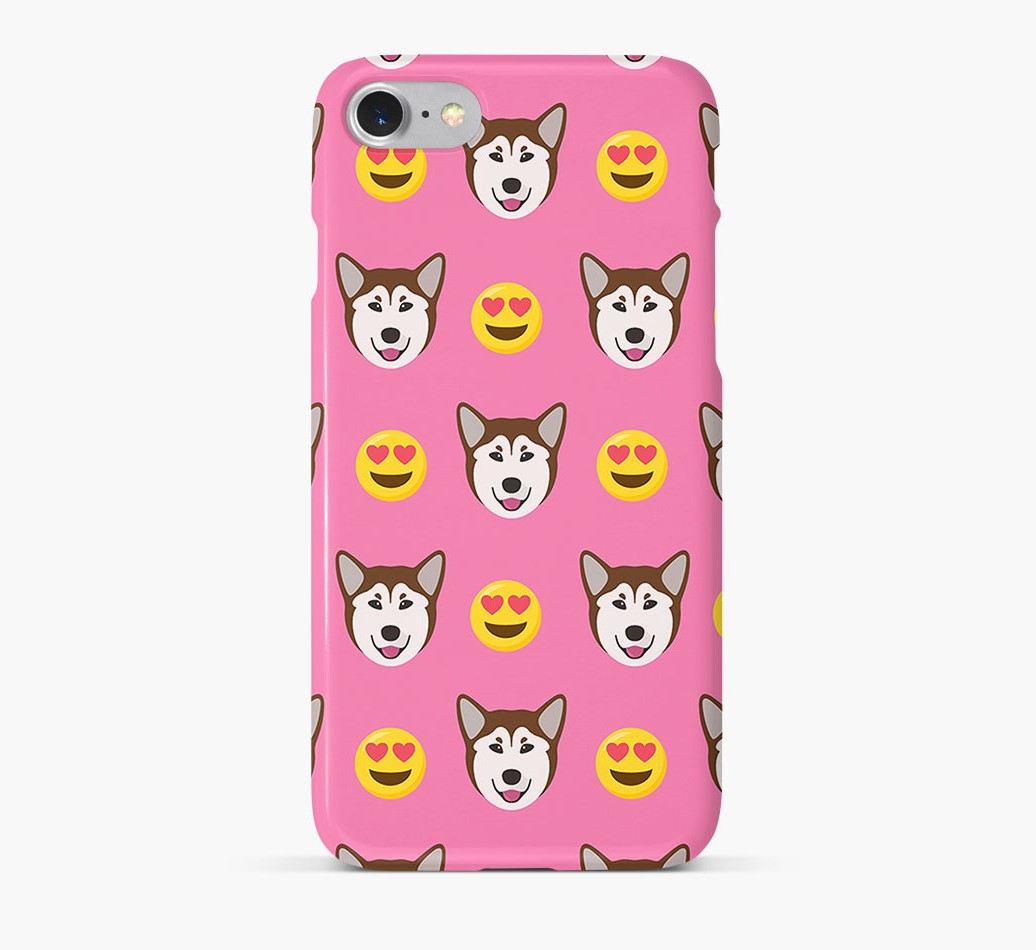 'Heart Eyes' Pattern Phone Case with Rescue Dog Icon