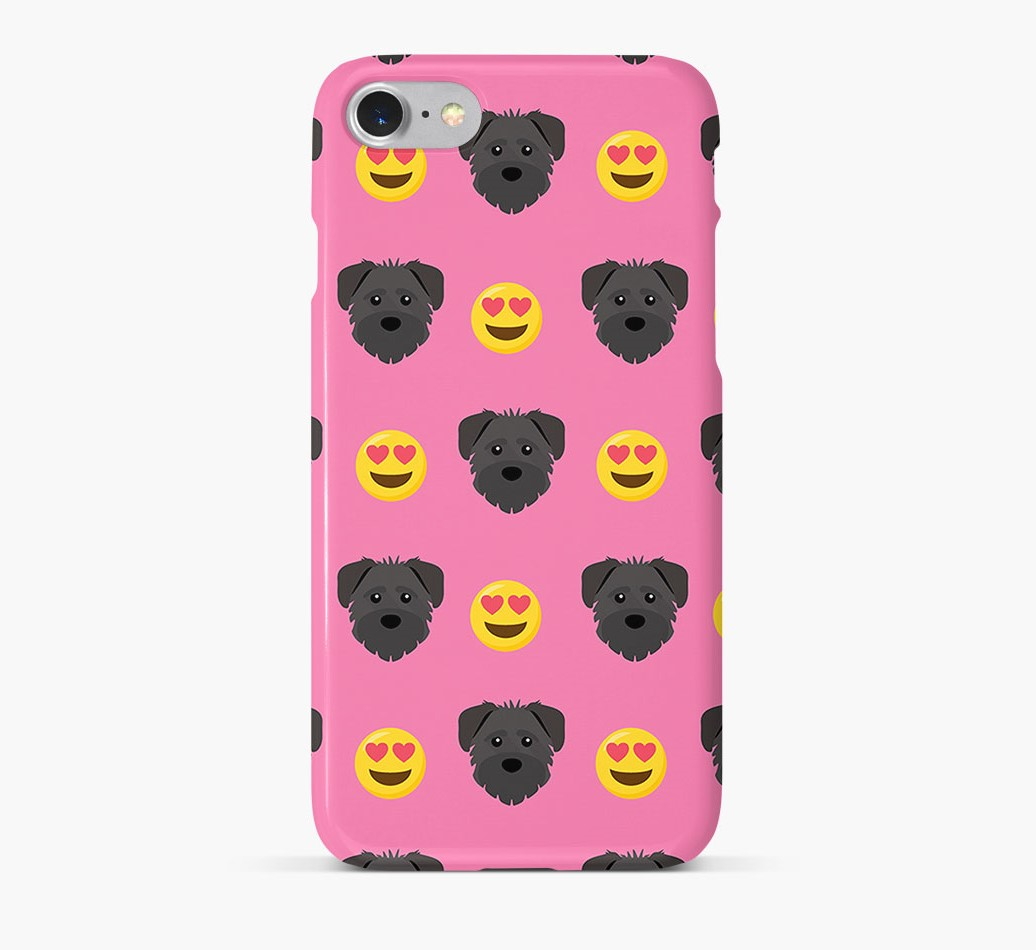 'Heart Eyes' Pattern Phone Case with Schnoodle Icon