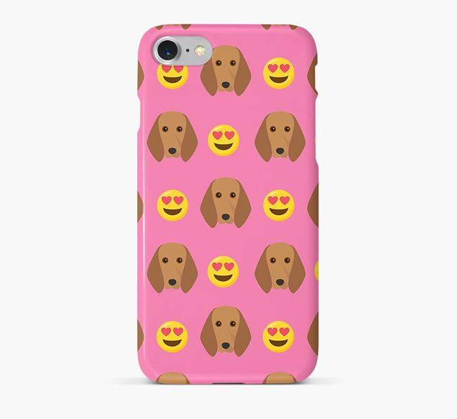 'Heart Eyes' Pattern Phone Case with Segugio Italiano Icon