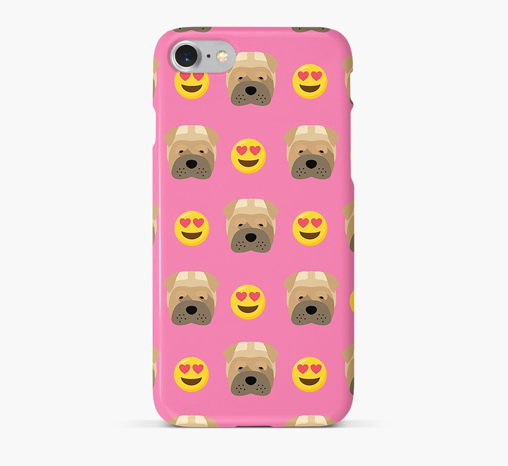 'Heart Eyes' Pattern Phone Case with Shar Pei Icon